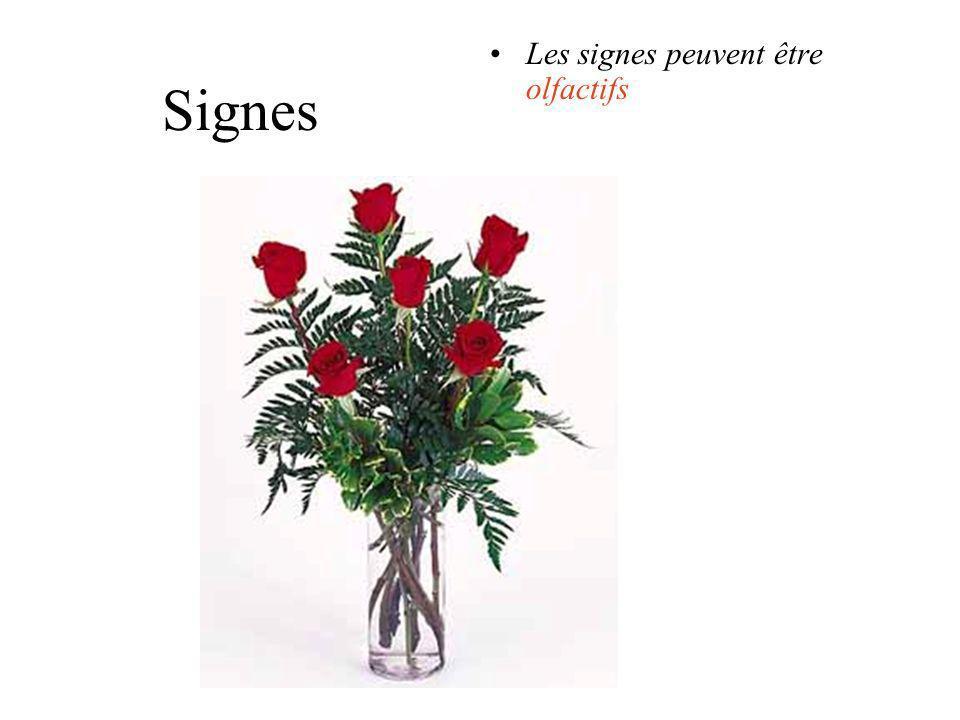 Signes les signes peuvent être sonores: sonnette, bruit, applaudissements, musique, discours