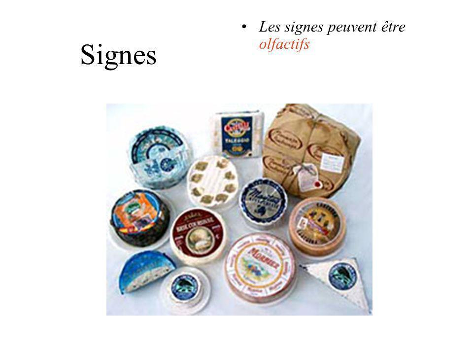 Signes Les signes peuvent être olfactifs