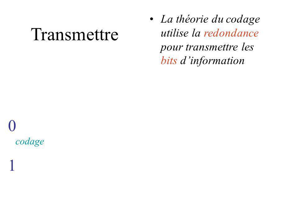 TRANSMETTRE LINFORMATION redondance
