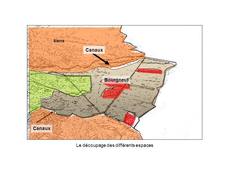Sierra Mer Méditerranée Bourgneuf Canaux Sierra Le découpage des différents espaces