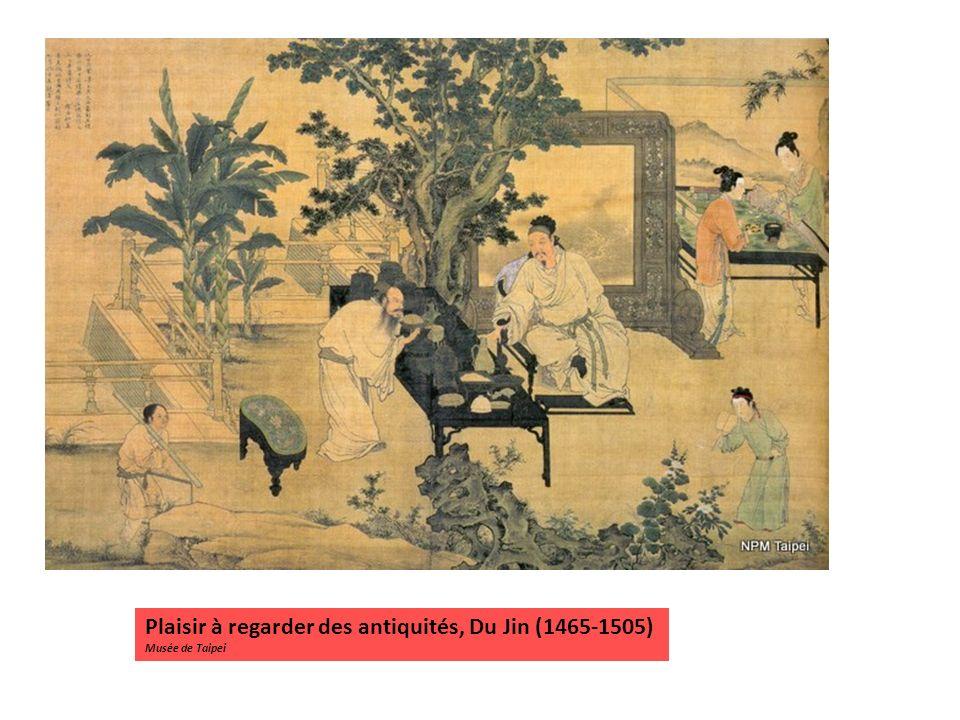 Plaisir à regarder des antiquités, Du Jin (1465-1505) Musée de Taipei
