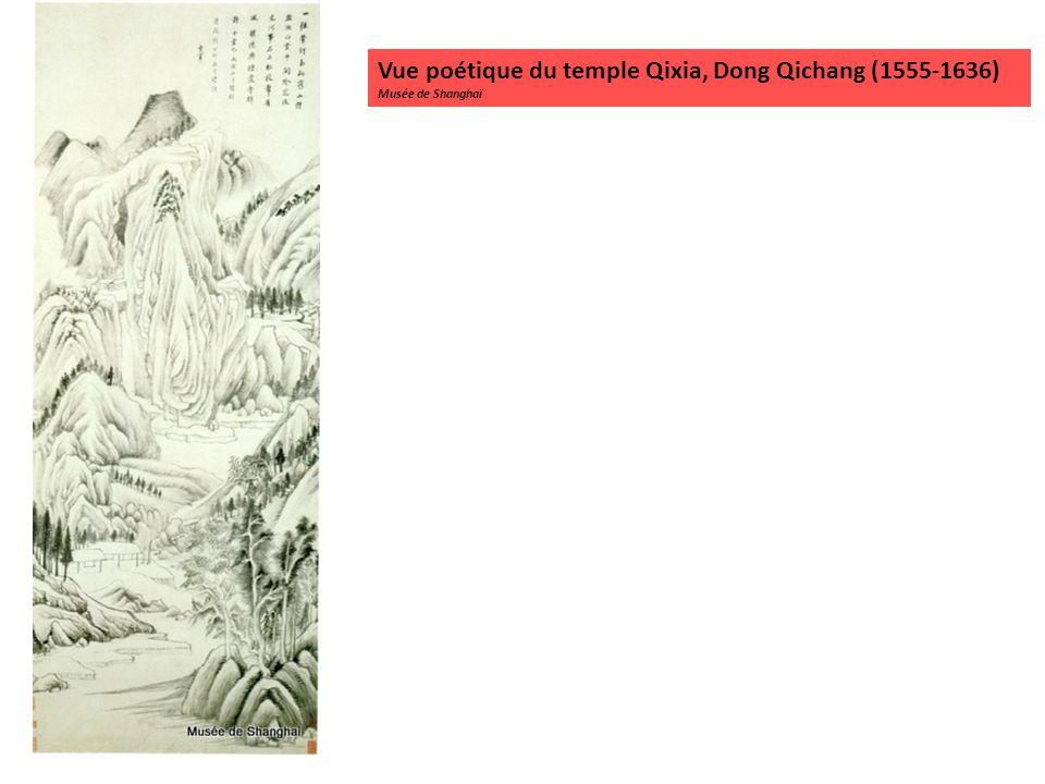 Vue poétique du temple Qixia, Dong Qichang (1555-1636) Musée de Shanghaï
