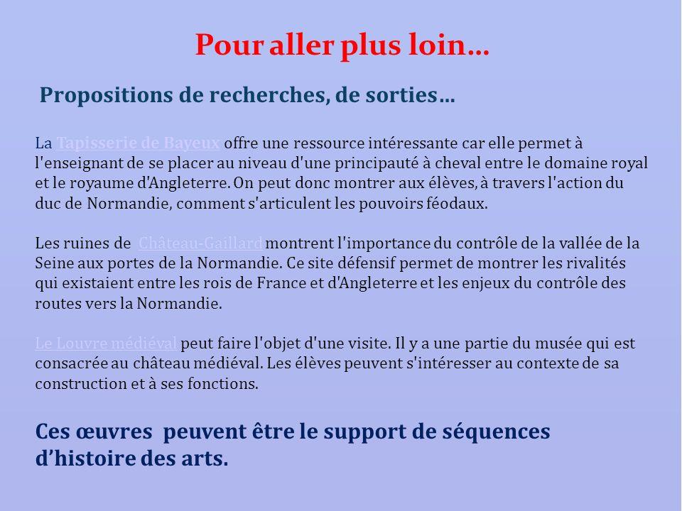 Propositions de recherches, de sorties… La Tapisserie de Bayeux offre une ressource intéressante car elle permet à l'enseignant de se placer au niveau