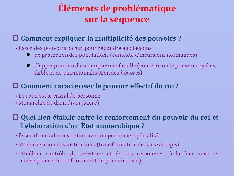 Éléments de problématique sur la séquence Comment expliquer la multiplicité des pouvoirs ? Essor des pouvoirs locaux pour répondre aux besoins : de pr