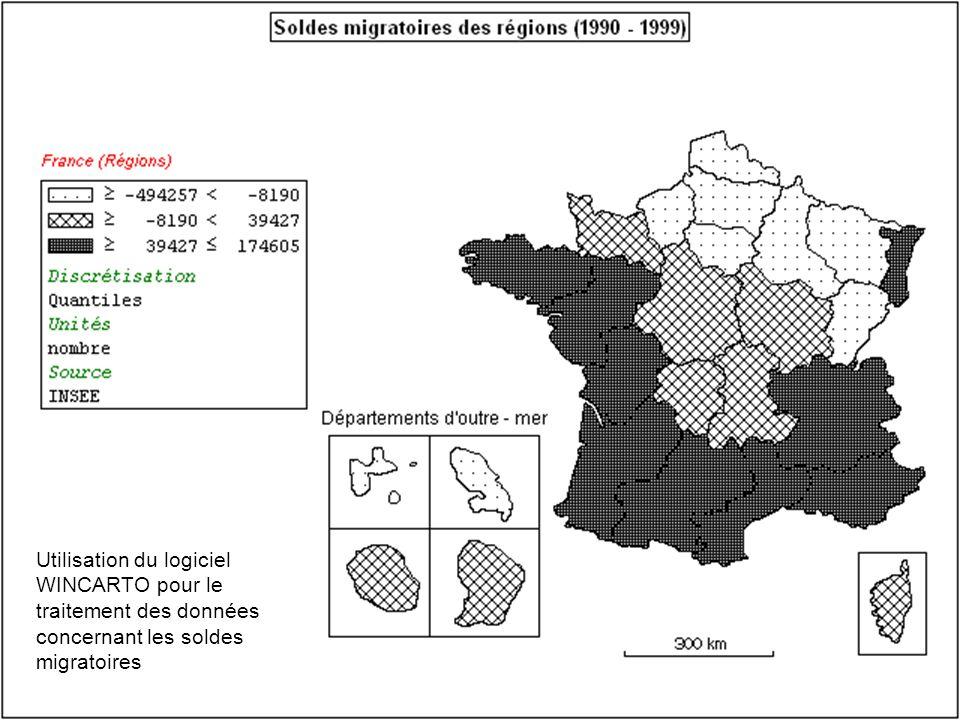 Utilisation du logiciel WINCARTO pour le traitement des données concernant les soldes migratoires