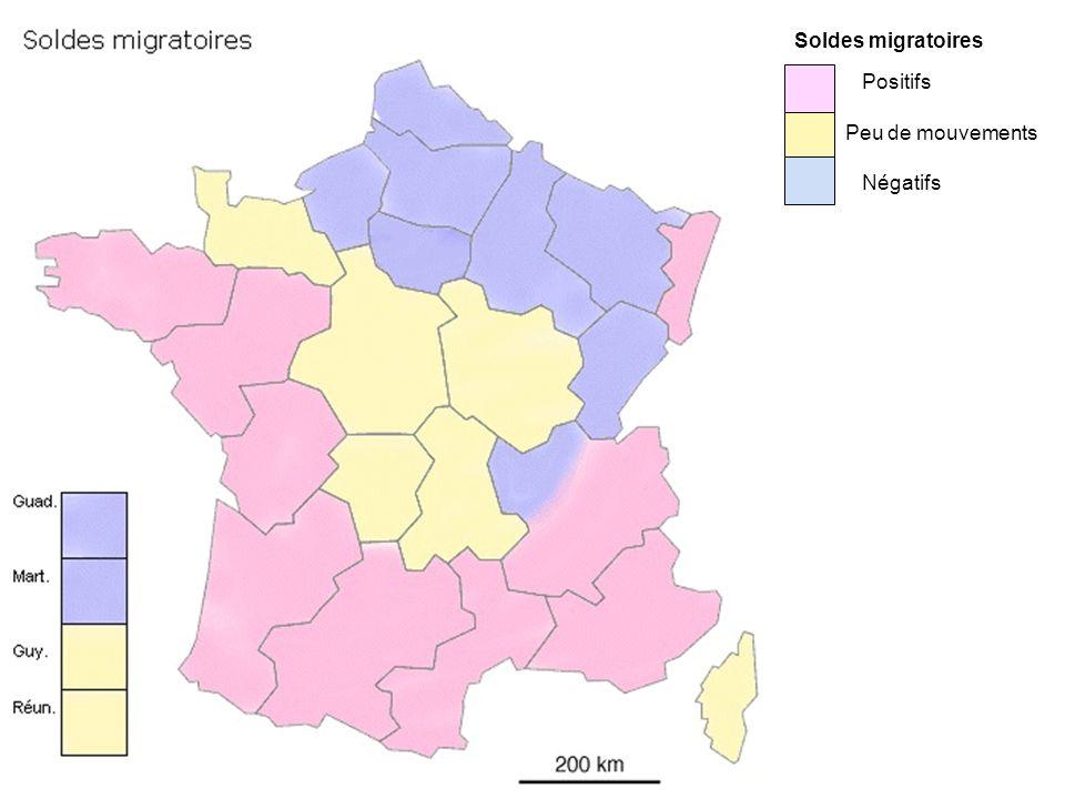 Positifs Peu de mouvements Négatifs Soldes migratoires