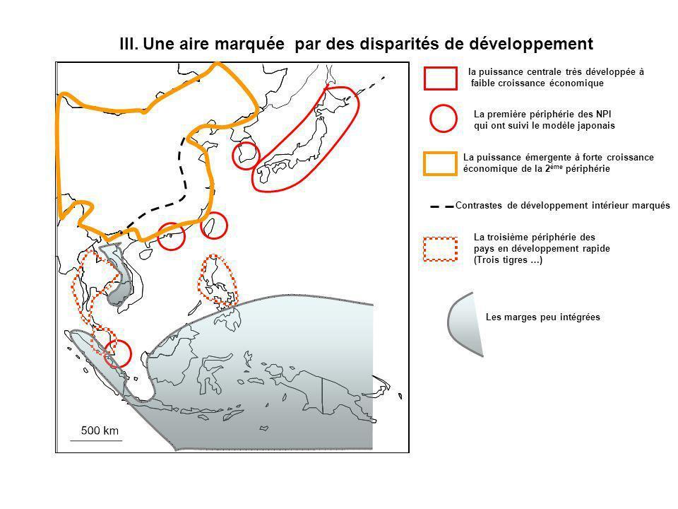 III. Une aire marquée par des disparités de développement la puissance centrale très développée à faible croissance économique La première périphérie
