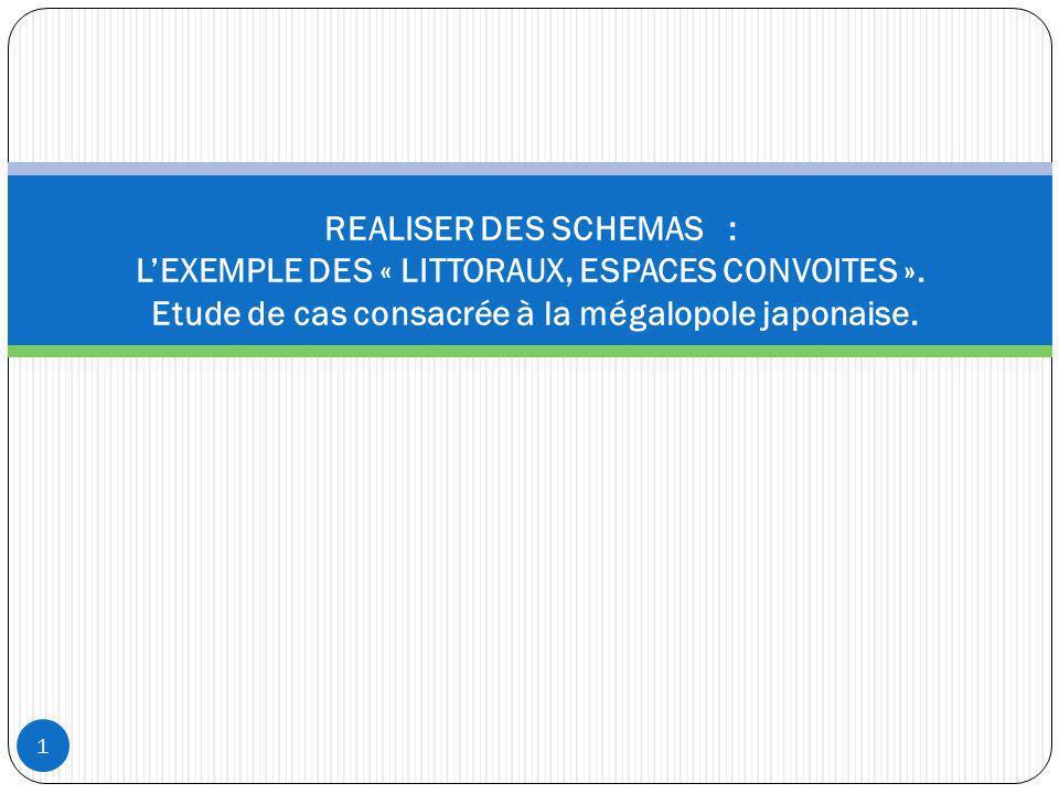 REALISER DES SCHEMAS : LEXEMPLE DES « LITTORAUX, ESPACES CONVOITES ». Etude de cas consacrée à la mégalopole japonaise. 1