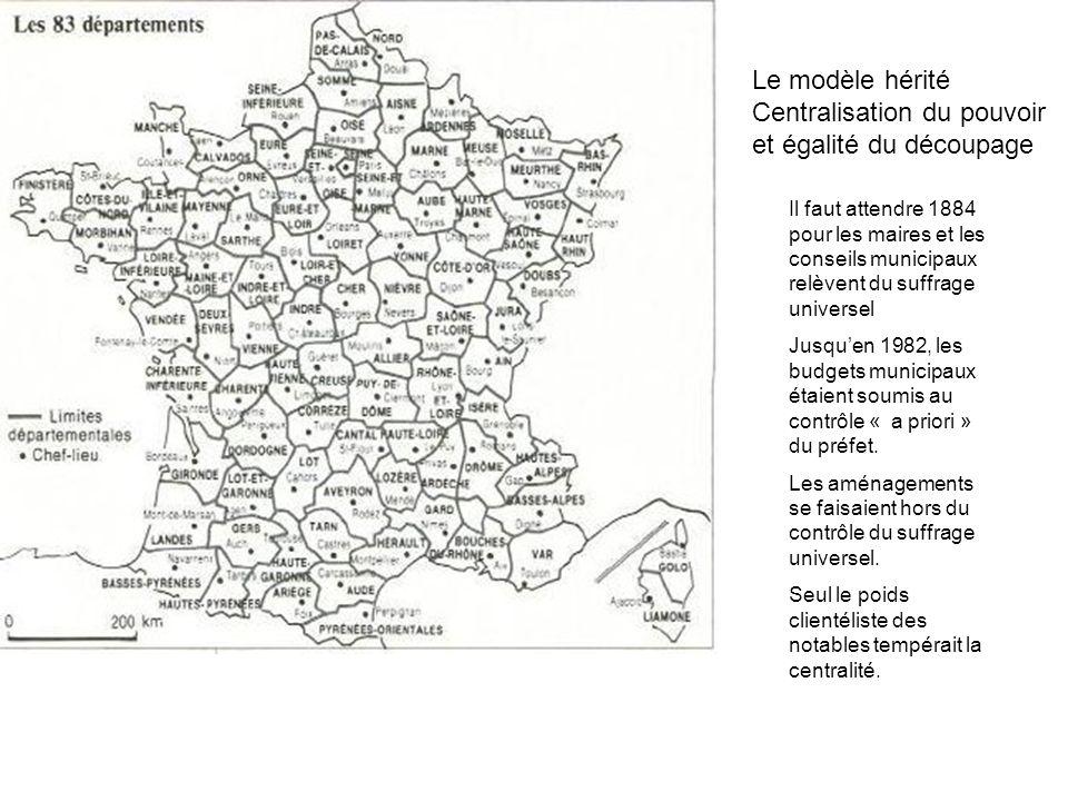 Les 36 000 communes françaises Les ¾ ont moins de 1000 habitants LAude à 438 communes, Les ¾ ont moins de 500 hts La Lozère à 185 communes, Mende, la préfecture à 12 000 hts