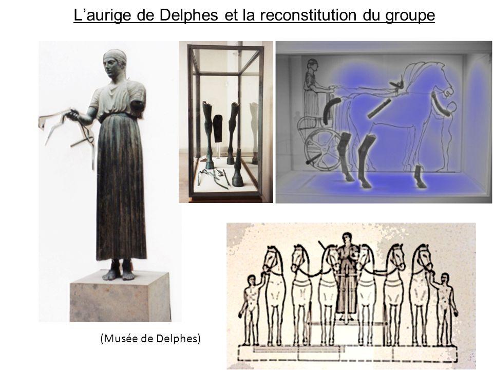 Laurige de Delphes et la reconstitution du groupe (Musée de Delphes)