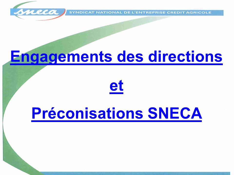 Engagements des directions et Préconisations SNECA