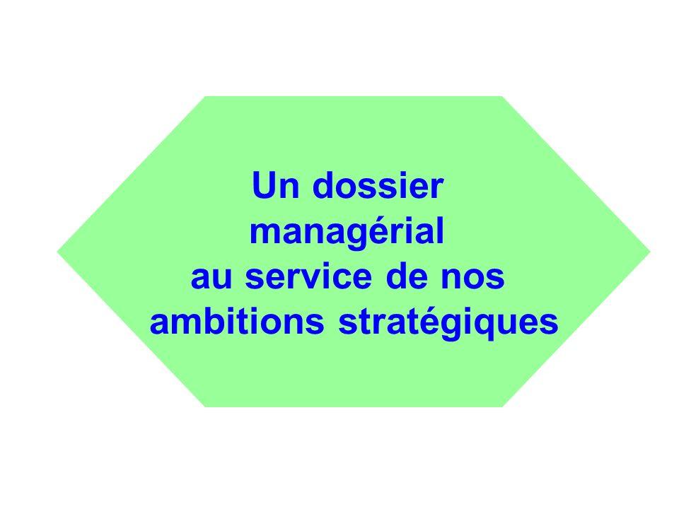Un dossier managérial au service de nos ambitions stratégiques