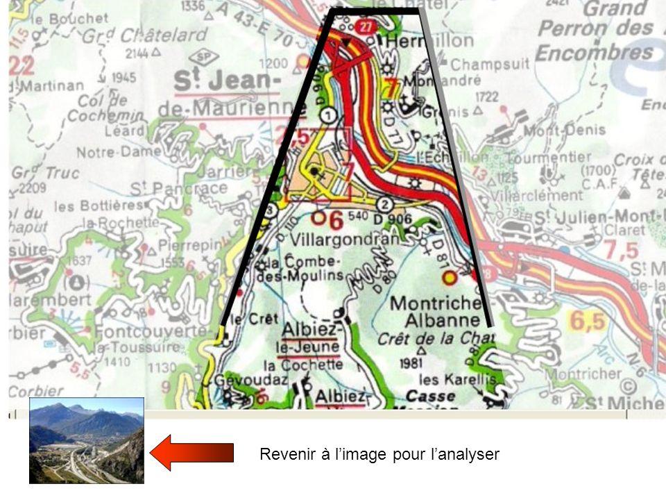 Hermillon Saint Jean de Maurienne habitat versants Voie ferrée Arc Nationale 6 A 43 Zone dactivité éboulis