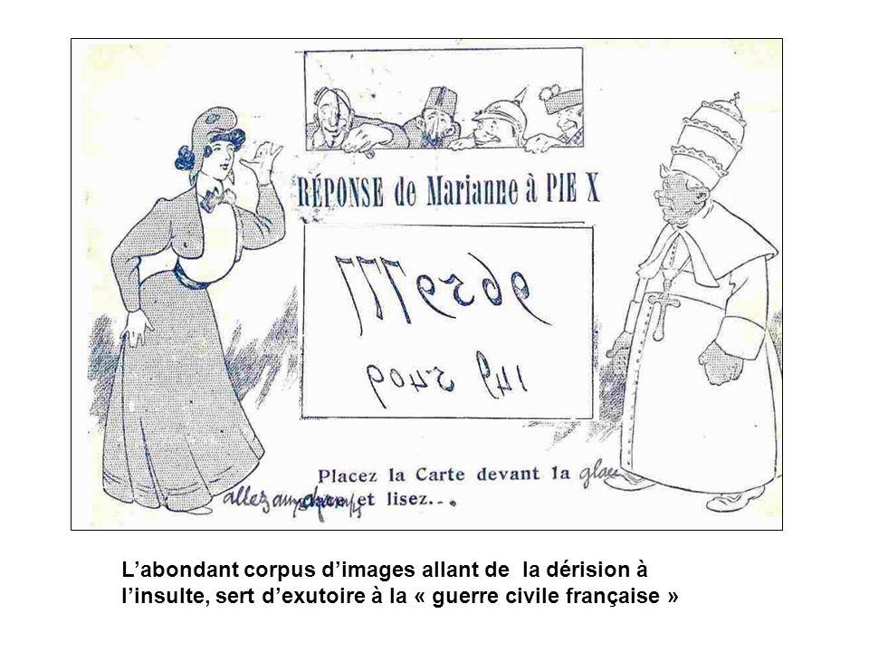 Labondant corpus dimages allant de la dérision à linsulte, sert dexutoire à la « guerre civile française »