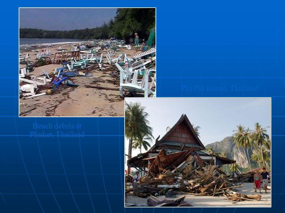 Beach debris at Phuket, Thailand Phi Phi Island, Thailand