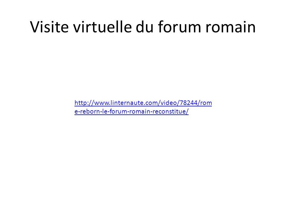 Visite virtuelle du forum romain http://www.linternaute.com/video/78244/rom e-reborn-le-forum-romain-reconstitue/