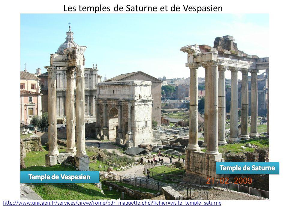 Les temples de Saturne et de Vespasien http://www.unicaen.fr/services/cireve/rome/pdr_maquette.php?fichier=visite_temple_saturne