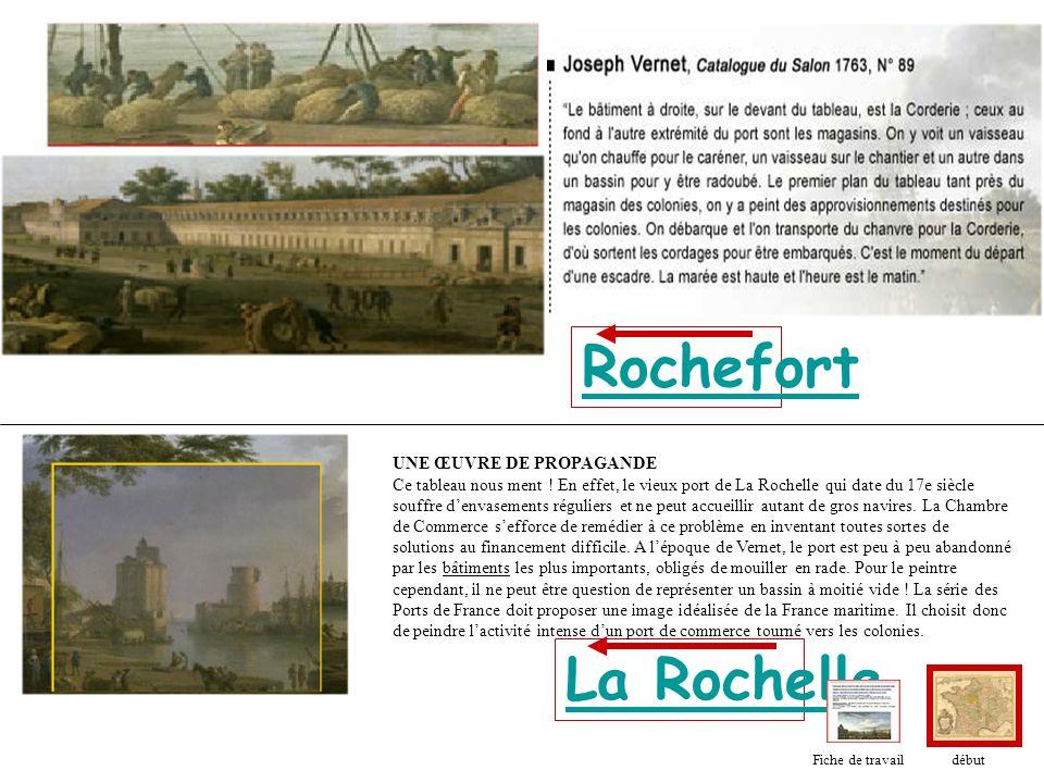 Rochefort La Rochelle UNE ŒUVRE DE PROPAGANDE Ce tableau nous ment ! En effet, le vieux port de La Rochelle qui date du 17e siècle souffre denvasement