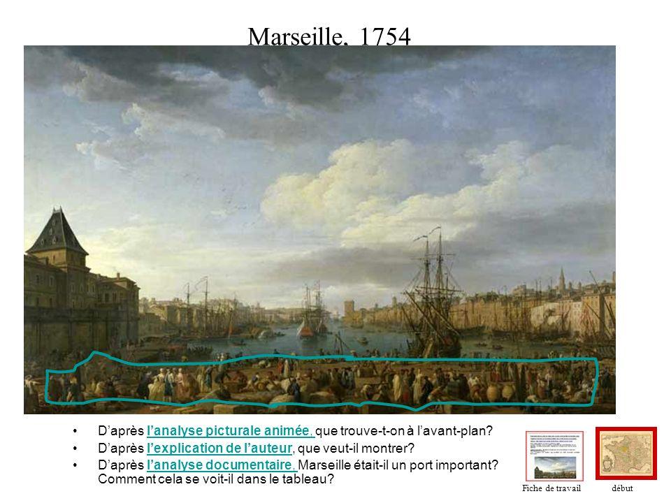 Marseille, 1754 Daprès lanalyse picturale animée, que trouve-t-on à lavant-plan?lanalyse picturale animée, Daprès lexplication de lauteur, que veut-il