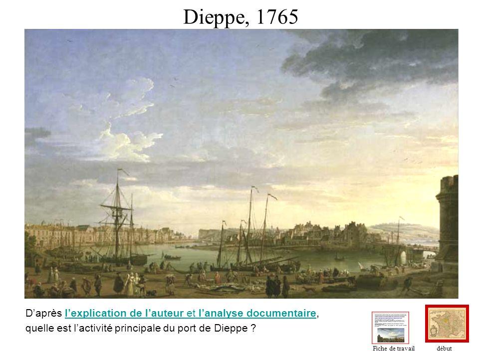 Dieppe, 1765 Daprès lexplication de lauteur et lanalyse documentaire,lexplication de lauteur et lanalyse documentaire quelle est lactivité principale