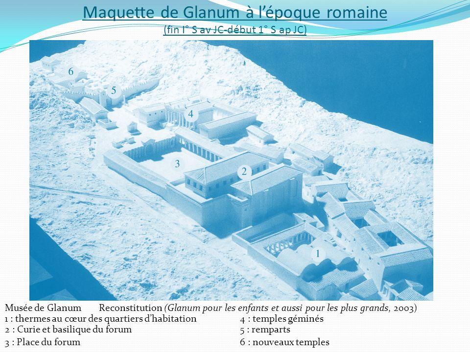 Maquette de Glanum à lépoque romaine (fin I° S av JC-début 1° S ap JC) Musée de GlanumReconstitution (Glanum pour les enfants et aussi pour les plus g