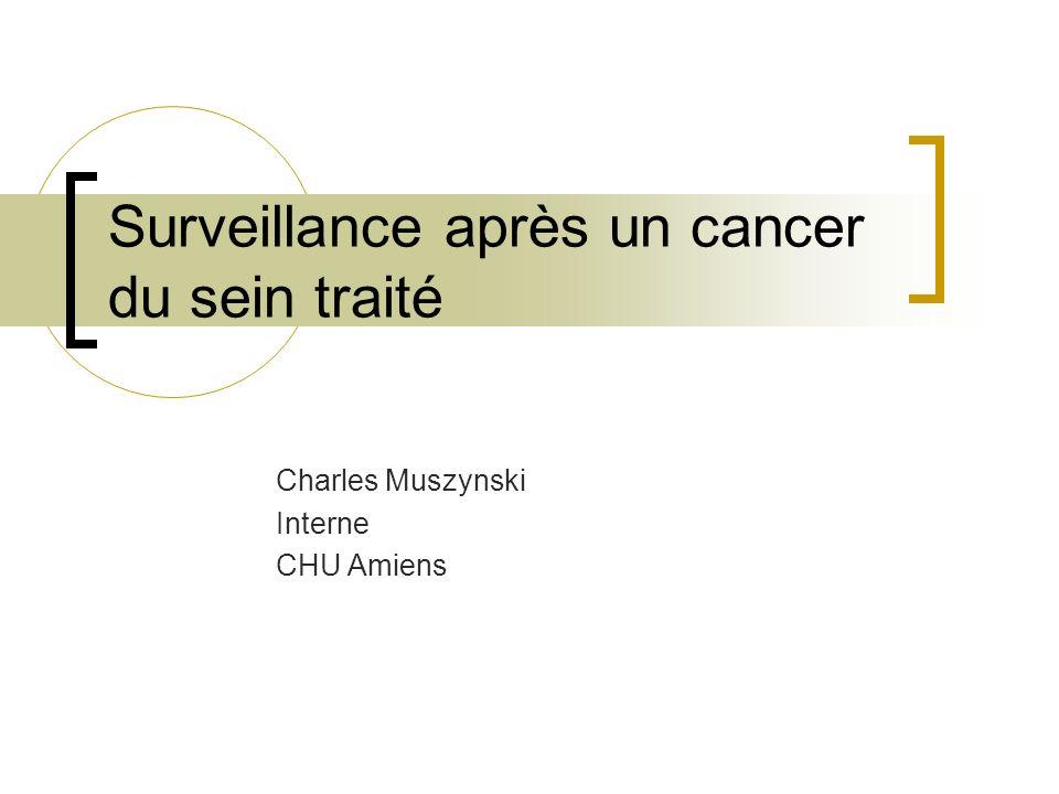 Surveillance après un cancer du sein traité Charles Muszynski Interne CHU Amiens