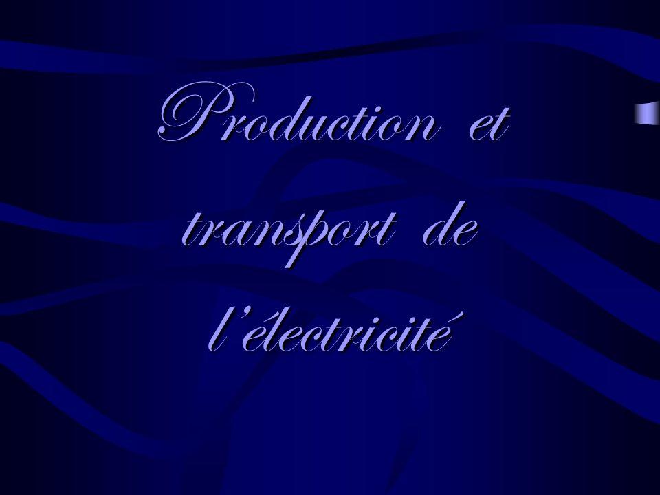Production et transport de lélectricité