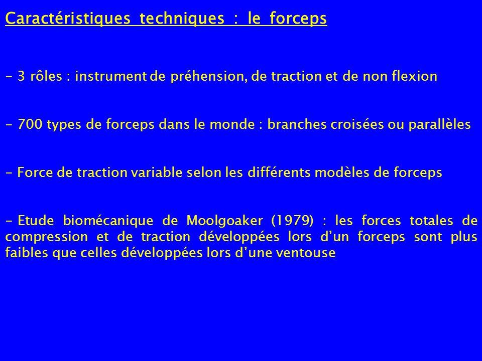 Caractéristiques techniques : le forceps - 3 rôles : instrument de préhension, de traction et de non flexion - 700 types de forceps dans le monde : br