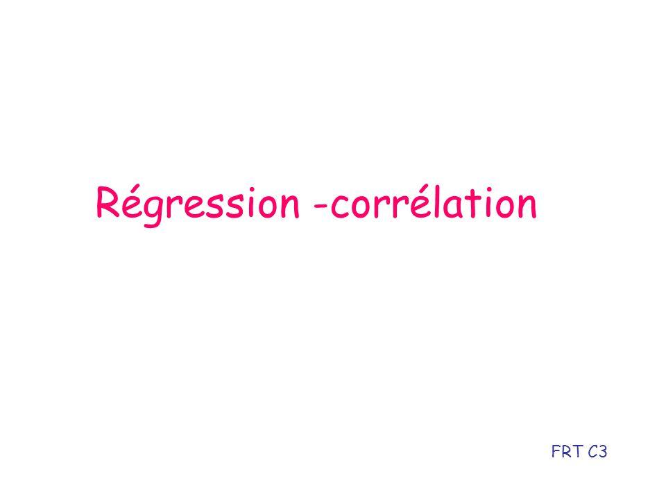 Régression -corrélation FRT C3