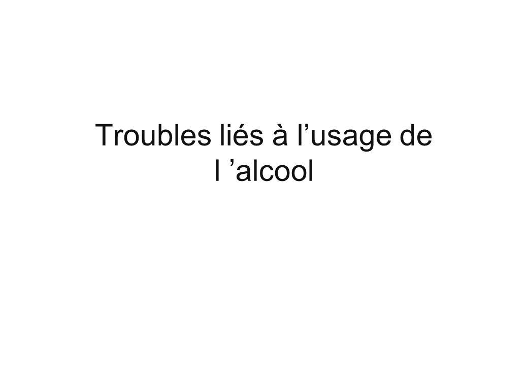 Troubles liés à lusage de l alcool