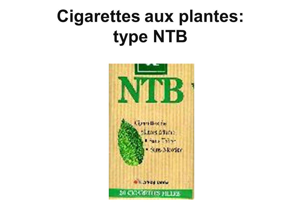 Cigarettes aux plantes: type NTB