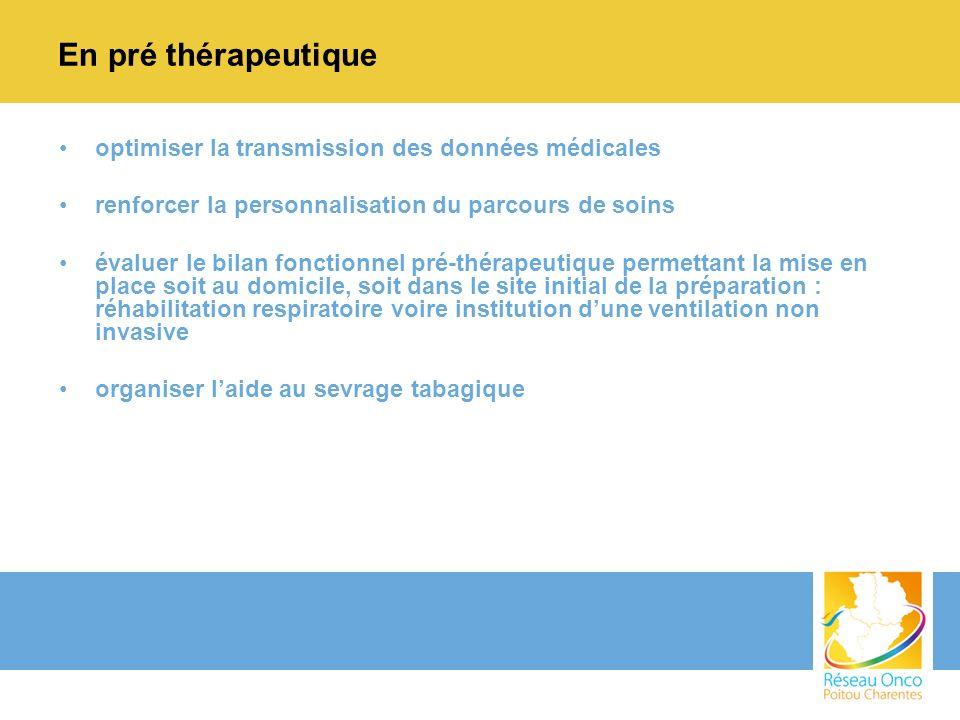 En pré thérapeutique optimiser la transmission des données médicales renforcer la personnalisation du parcours de soins évaluer le bilan fonctionnel p