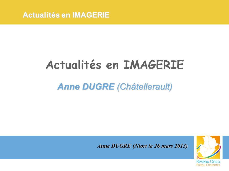 Actualités en IMAGERIE Anne DUGRE (Châtellerault) Actualités en IMAGERIE Actualités en IMAGERIE Anne DUGRE (Niort le 26 mars 2013)