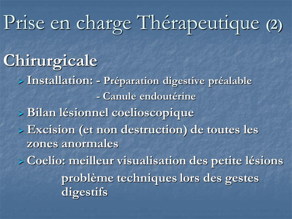 Prise en charge Thérapeutique (3) Chirurgicale Tableau Chapron