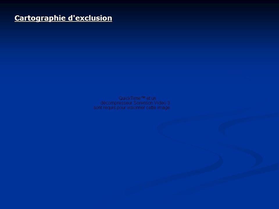 Cartographie d'exclusion