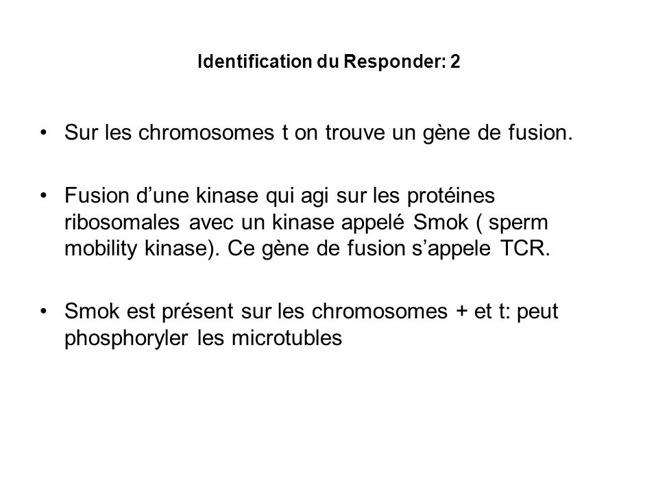 Identification du Responder: 3 TCR sexprime où.