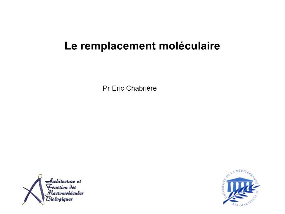Le remplacement moléculaire Pr Eric Chabrière