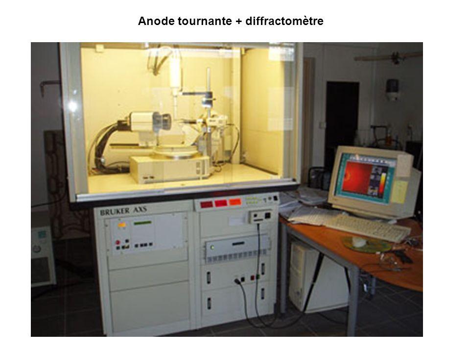 Anode tournante + diffractomètre