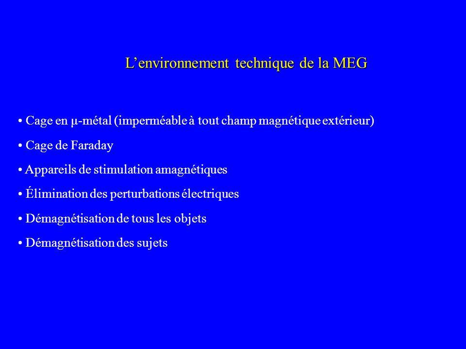 Lenvironnement technique de la MEG Cage en μ-métal (imperméable à tout champ magnétique extérieur) Cage de Faraday Appareils de stimulation amagnétiqu