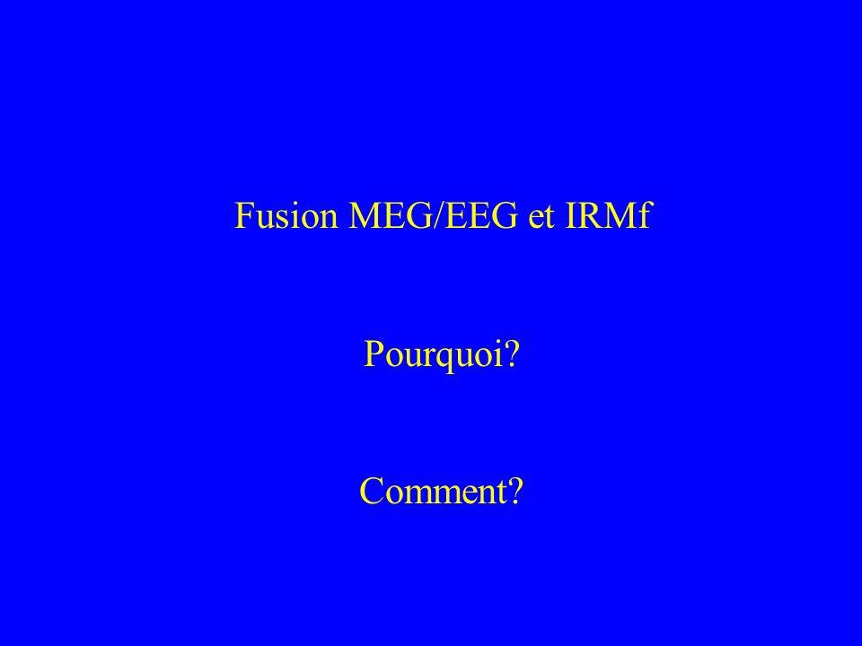 Fusion MEG/EEG et IRMf Pourquoi? Comment?