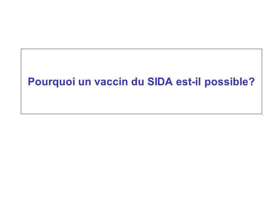 Pourquoi un vaccin du SIDA est-il possible?