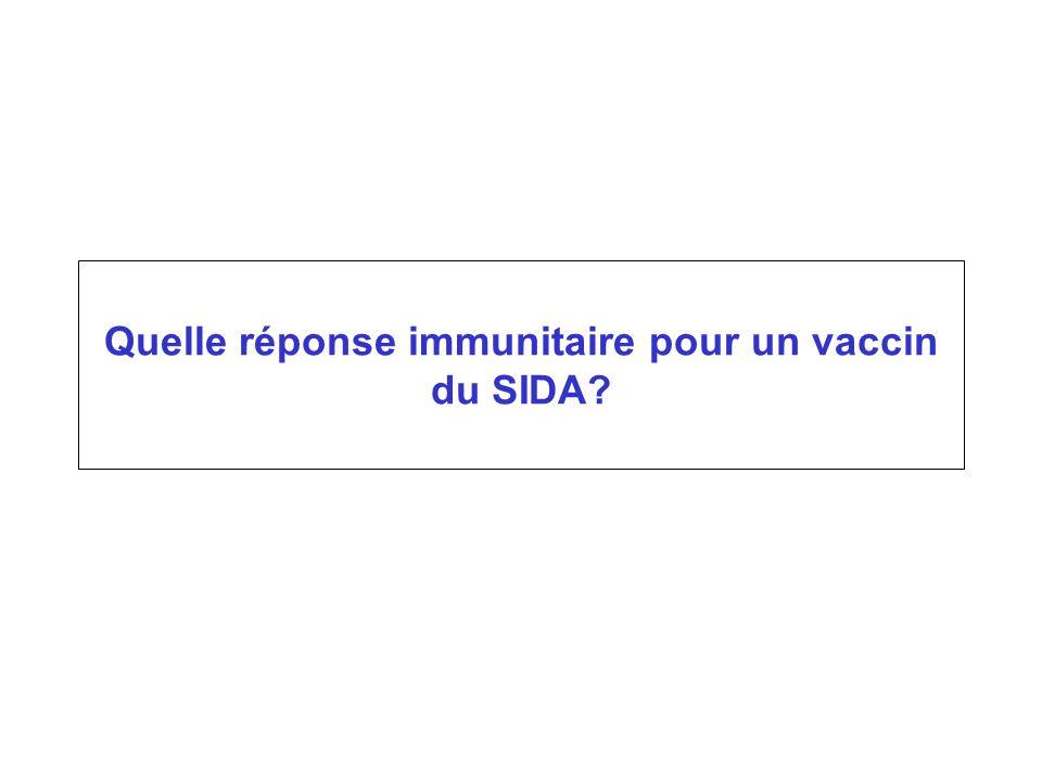Quelle réponse immunitaire pour un vaccin du SIDA?