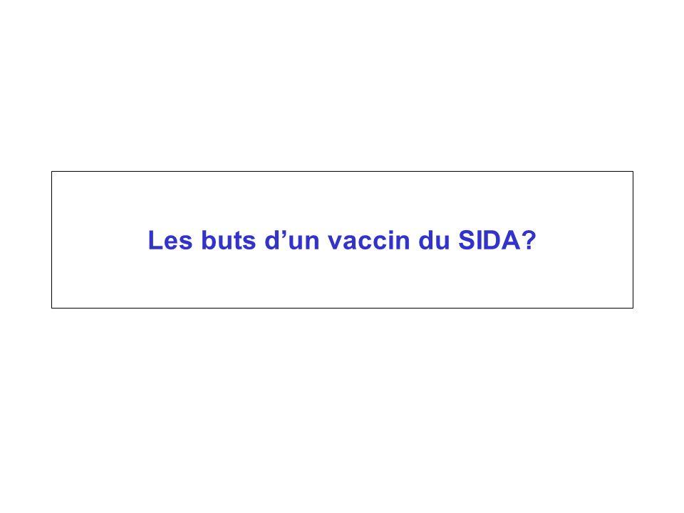 Les buts dun vaccin du SIDA?