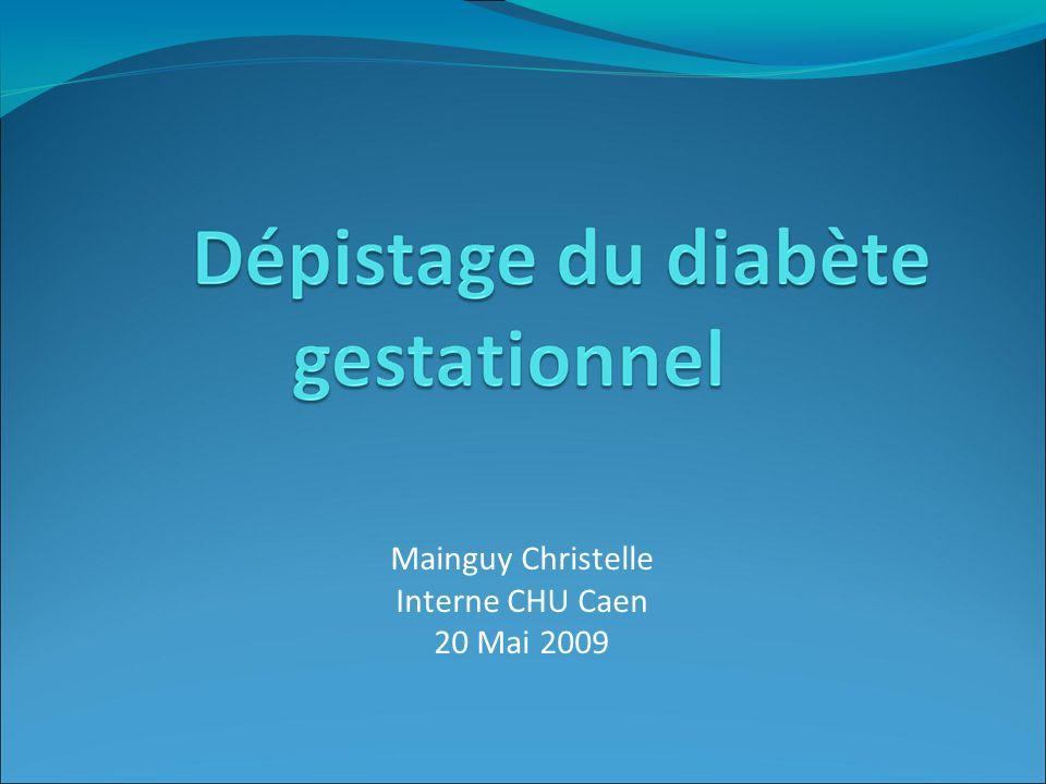 Mainguy Christelle Interne CHU Caen 20 Mai 2009