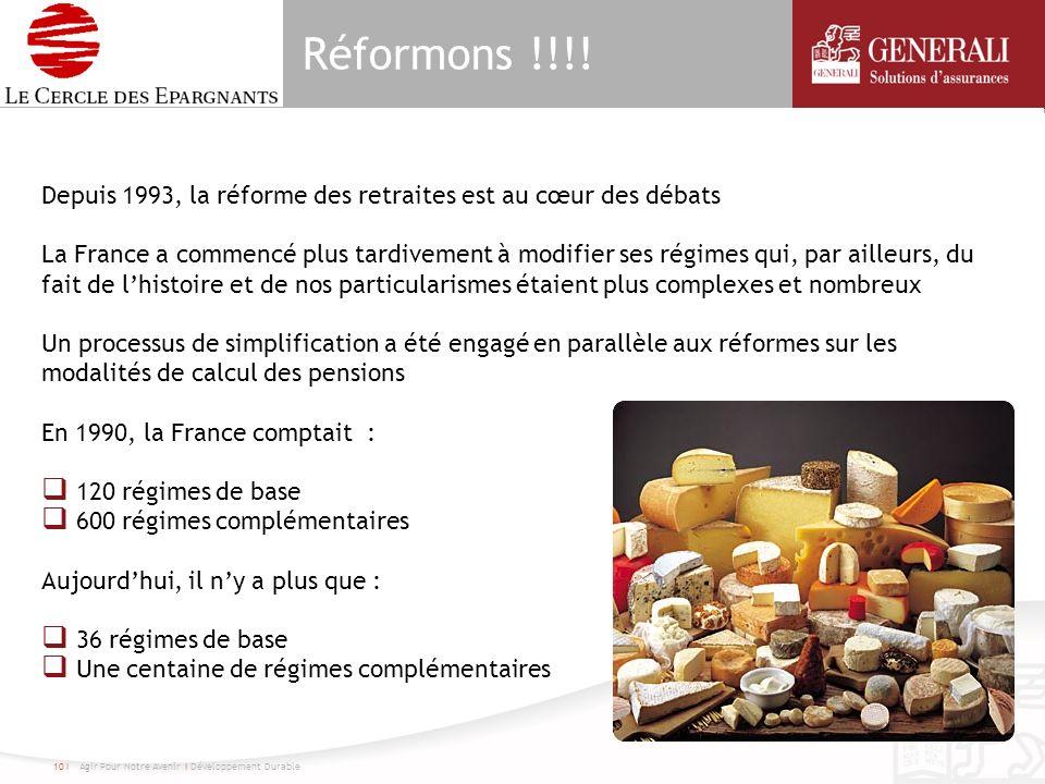 Réformons !!!! Depuis 1993, la réforme des retraites est au cœur des débats La France a commencé plus tardivement à modifier ses régimes qui, par aill