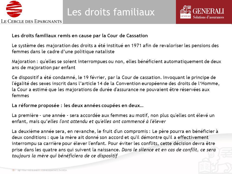Les droits familiaux Les droits familiaux remis en cause par la Cour de Cassation Le système des majoration des droits a été institué en 1971 afin de