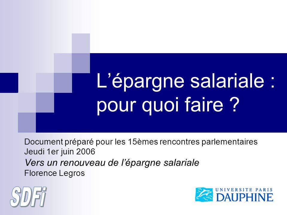 Lépargne salariale : pour quoi faire .