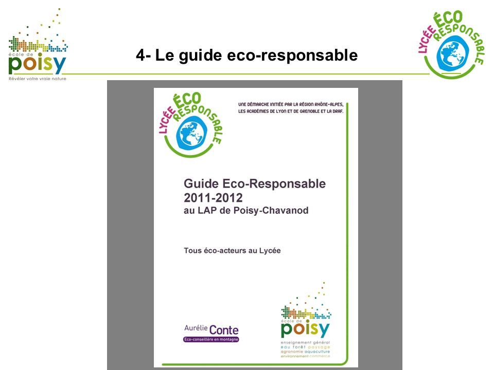 4- Le guide eco-responsable