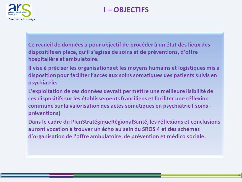 Direction de la stratégie III – LES MODALITES ORGANISATIONNELLES 14 ARS Ile de France – Direction de la Stratégie - Accès à lInformation et Etudes – Enquête SSP Mai 2012 Participation des professionnels de santé dans les formations