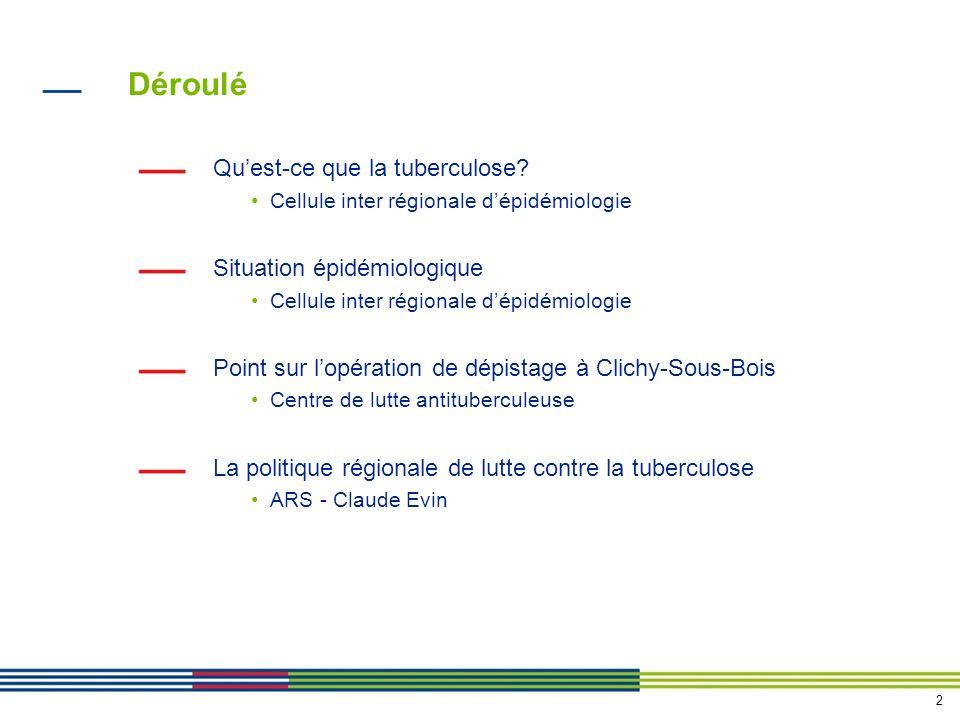 13 La politique régionale de lutte contre la tuberculose en Ile-de-France